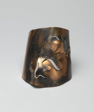 (Susan) Winifred Mason (American, 1912-1993 (possibly)). Cuff Bracelet, ca. 1945. Copper, 2 1/4 x 2 7/8 x 3 1/2 in. (5.7 x 7.3 x 8.9 cm). Brooklyn Museum, Designated Purchase Fund, 2010.71. Creative Commons-BY