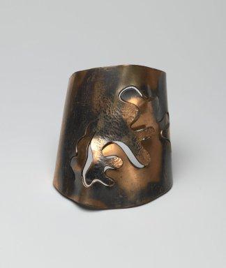 Winifred Mason (American, 1915-1995). Cuff Bracelet, ca. 1948. Copper, 2 1/4 x 2 7/8 x 3 1/2 in. (5.7 x 7.3 x 8.9 cm). Brooklyn Museum, Designated Purchase Fund, 2010.71. Creative Commons-BY