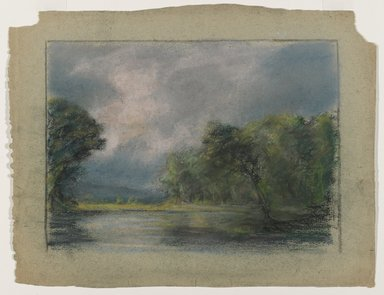 Edward Mitchell Bannister (American, 1828-1901). Untitled, ca. 1885. Pastel on paper, sight: 7 1/2 x 10 1/2 in. (19.1 x 26.7 cm). Brooklyn Museum, Gift of the Elisha Hawkins Collection of African and African American Art, 2011.1.2