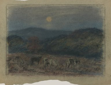 Edward Mitchell Bannister (American, 1828-1901). Untitled, ca. 1885. Pastel on paper, Sight: 7 1/2 x 10 1/2 in. (19.1 x 26.7 cm). Brooklyn Museum, Gift of the Elisha Hawkins Collection of African and African American Art, 2011.1.3