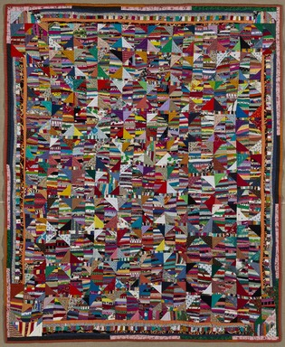 Anna Williams (American, 1927-2010). Quilt, 1995. Cotton, synthetics, 76 1/4 x 61 1/2 in. (193.7 x 156.2 cm). Brooklyn Museum, Gift in memory of Horace H. Solomon, 2011.18. Creative Commons-BY