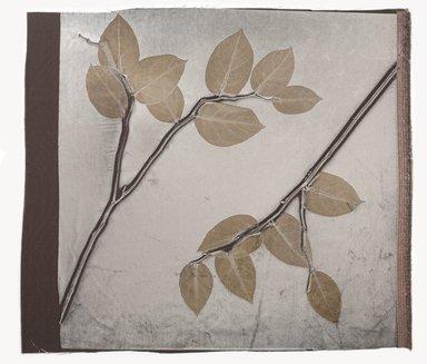 Aviva Stanoff (American, born 1972). Kohl Lemon Leaf on Cobble, 2011. Velvet, 22 x 25 in. (55.9 x 63.5 cm). Brooklyn Museum, Gift of the artist in memory of Ando Gakujo , 2011.19.15. © Aviva Stanoff