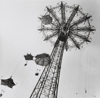 Nathan Lerner (American, 1913-1997). [Untitled] (Parachute Jump), n.d., later print. Gelatin silver photograph, Sheet: 8 x 10 in. (20.3 x 25.4 cm). Brooklyn Museum, Gift of Kiyoko Lerner, 2011.25.18. ©Nathan Lerner