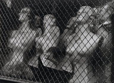 Nathan Lerner (American, 1914-1997). The ManniKin Affair, Maxwell Street, 1936, printed later. Gelatin silver photograph, Sheet: 10 7/8 x 12 7/8 in. (27.6 x 32.7 cm). Brooklyn Museum, Gift of Kiyoko Lerner, 2011.25.23. ©Nathan Lerner