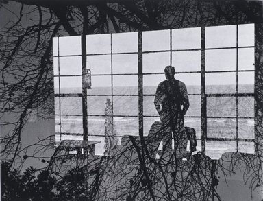 Nathan Lerner (American, 1914-1997). Man Against Window, 1954, printed later. Gelatin silver photograph, Sheet: 11 x 14 in. (27.9 x 35.6 cm). Brooklyn Museum, Gift of Kiyoko Lerner, 2011.25.32. ©Nathan Lerner