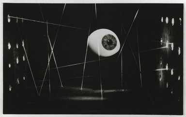 Nathan Lerner (American, 1914-1997). Eye and Strings, 1939, printed later. Gelatin silver photograph mounted on board, Mat: 16 7/8 x 13 7/8 in. (42.9 x 35.2 cm). Brooklyn Museum, Gift of Kiyoko Lerner, 2011.25.39. ©Nathan Lerner