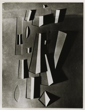 Nathan Lerner (American, 1914-1997). Light Drawing with Folded Paper, 1940-1942, printed later. Gelatin silver photograph mounted on board, Mat: 14 x 11 in. (35.6 x 27.9 cm). Brooklyn Museum, Gift of Kiyoko Lerner, 2011.25.41. ©Nathan Lerner