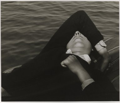 Nathan Lerner (American, 1914-1997). Girl in Boat, 1935, printed 1980. Gelatin silver photograph, Sheet: 9 3/4 x 11 in. (24.8 x 27.9 cm). Brooklyn Museum, Gift of Kiyoko Lerner, 2011.25.53. ©Nathan Lerner