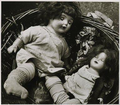 Nathan Lerner (American, 1914-1997). Dolls, Maxwell Street, 1936, printed later. Gelatin silver photograph, Sheet: 11 x 14 in. (27.9 x 35.6 cm). Brooklyn Museum, Gift of Kiyoko Lerner, 2011.25.54. ©Nathan Lerner