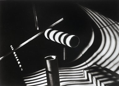 Nathan Lerner (American, 1914-1997). Light Experiment: Wooden Dowels, Chicago 1939, Printed 1983. Selenium-toned print, Sheet: 16 x 20 in. (40.6 x 50.8 cm). Brooklyn Museum, Gift of Kiyoko Lerner, 2011.25.74. ©Nathan Lerner