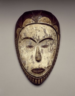 Fang (Betsi subgroup). Male Face Mask, 19th century. Wood, pigment, 11 1/8 x 7 x 2 1/4 in. (28.3 x 17.8 x 5.7 cm). Brooklyn Museum, Collection of Beatrice Riese, 2011.4.6. Creative Commons-BY