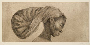 Charles W. White (American, 1918-1979). Jessica, 1970. Etching, 12 x 25 1/4 in. (30.5 x 64.1 cm). Brooklyn Museum, Gift of Milton and Nancy Washington, 2011.52. © The Charles White Archives