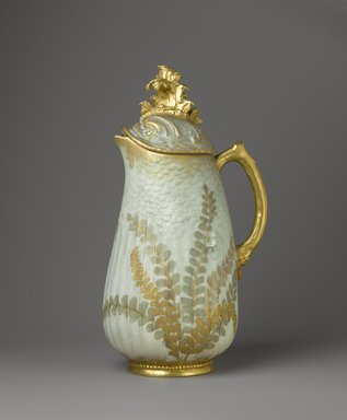 William Lycett (American, born England, 1855-1909, active late 19th century). Coffee Pot with Lid, ca. 1895. Porcelain, 12 x 5 x 6 1/2 in. (30.5 x 12.7 x 16.5 cm). Brooklyn Museum, Harold S. Keller Fund, 2011.58.3a-b. Creative Commons-BY
