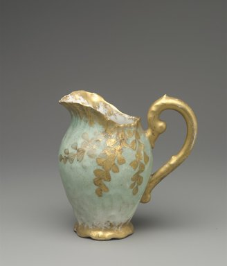 William Lycett (American, born England, 1855-1909, active late 19th century). Creamer, ca. 1895. Porcelain, 4 1/4 x 4 1/4 x 2 5/8 in. (10.8 x 10.8 x 6.7 cm). Brooklyn Museum, Harold S. Keller Fund, 2011.58.4. Creative Commons-BY