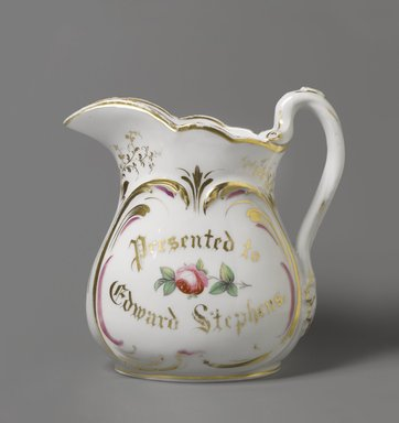Empire China Works (1867/8-1927). Pitcher, ca. 1875. Porcelain, 9 1/2 x 9 x 6 in. (24.1 x 22.9 x 15.2 cm). Brooklyn Museum, Harold S. Keller Fund, 2011.79.1. Creative Commons-BY