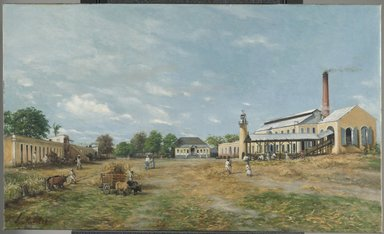 Francisco Oller (Puerto Rican, 1833-1917). Hacienda La Fortuna, 1885. Oil on canvas, 26 x 40 in. (66 x 101.6 cm). Brooklyn Museum, Gift of Lilla Brown in memory of her husband, John W. Brown, by exchange, 2012.19