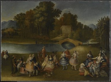 Brooklyn Museum: A Merry Company on the Banks of the Rímac River