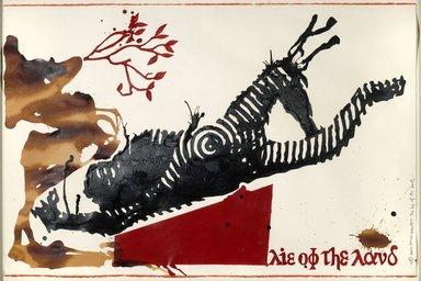 Jitish Kallat (Indian, born 1974). The Lie of the Land, 2004. Acrylic on paper, Sheet: 26 x 39 in. (66 x 99.1 cm). Brooklyn Museum, Gift of Beverly Moss Spatt, 2012.50.20. © Jitish Kallat