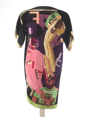 Jae Jarrell (American, born 1935). Ebony Family, ca. 1968. Velvet dress with velvet collage, 38 1/2 x 38 x 1/2 in. (97.8 x 96.5 x 1.3 cm). Brooklyn Museum, Gift of R.M. Atwater, Anna Wolfrom Dove, Alice Fiebiger, Joseph Fiebiger, Belle Campbell Harriss, and Emma L. Hyde, by exchange, Designated Purchase Fund, Mary Smith Dorward Fund, Dick S. Ramsay Fund, and  Carll H. de Silver Fund, 2012.80.15. © Jae Jarrell