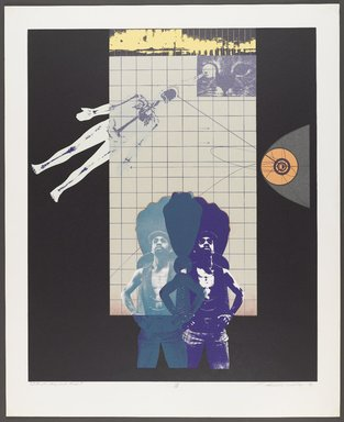 Lev T. Mills (American, born 1940). I'm Funky, But Clean, 1972. Screenprint on paper with colored-pencil additions, Image: 23 x 19 in. (58.4 x 48.3 cm). Brooklyn Museum, Gift of R.M. Atwater, Anna Wolfrom Dove, Alice Fiebiger, Joseph Fiebiger, Belle Campbell Harriss, and Emma L. Hyde, by exchange, Designated Purchase Fund, Mary Smith Dorward Fund, Dick S. Ramsay Fund, and  Carll H. de Silver Fund, 2012.80.34. © Lev T. Mills