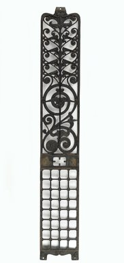 Winslow Brothers Company. Elevator Grille, 1889. Cast iron, sheet metal, 78 3/4 x 12 1/4 x 1/2 in. (200 x 31.1 x 1.3 cm). Brooklyn Museum, Gift of Manhattan Associates through the High Museum of Art, Atlanta, 2013.45