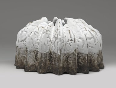 Koike Shoko (Japanese, born 1943). Vessel in the Shape of an Anemone, 1990s. Stoneware with white and iridescent glaze
