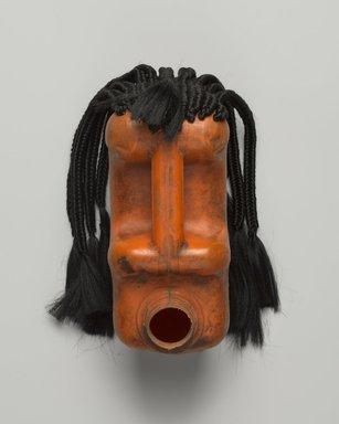Romuald Hazoumé (Beninese, born 1962). Fiegnon, 2011. Plastic, fiber (possibly synthetic), metal (copper wire), 11 x 8 x 8 1/2 in. (27.9 x 20.3 x 21.6 cm). Brooklyn Museum, Caroline A.L. Pratt Fund, 2014.32.2. © Romuald Hazoume