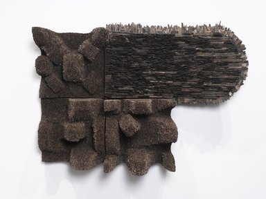 Leonardo Drew (American, born 1961). Number 153, 2012. Wood, 50 x 71 1/2 x 28 in. (127 x 181.6 x 71.1 cm). Brooklyn Museum, Gift of the Contemporary Art Acquisition Committee, 2014.38a-d. © Leonardo Drew