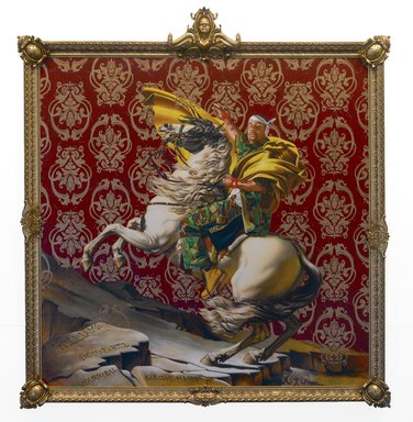Kehinde Wiley (American, born 1977). Napoleon Leading the Army over the Alps, 2005. Oil on canvas, 108 x 108 in. (274.3 x 274.3 cm). Brooklyn Museum, Partial gift of Suzi and Andrew Booke Cohen in memory of Ilene R. Booke and in honor of Arnold L. Lehman, Mary Smith Dorward Fund, and William K. Jacobs, Jr. Fund
