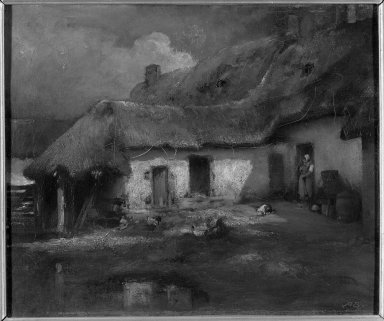 Auguste Boulard (French, 1852-1897). Rustic Hut, n.d. Oil on canvas, 18 5/16 x 22 1/16 in.  (46.5 x 56.0 cm). Brooklyn Museum, Bequest of William H. Herriman, 21.100