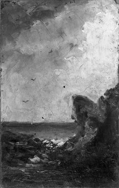 Gustave Courbet (French, 1819-1877). Marine. Oil, 9 x 6 in.  (22.9 x 15.2 cm). Brooklyn Museum, Bequest of William H. Herriman, 21.109