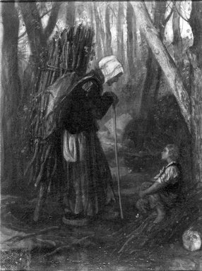 Brooklyn Museum: Old Woman and Boy in a Forest