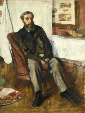 Edgar Degas (French, 1834-1917). Portrait of a Man (Portrait d'homme), ca. 1866. Oil on canvas, 34 x 25 1/2 in. (86.4 x 64.8 cm). Brooklyn Museum, Museum Collection Fund, 21.112