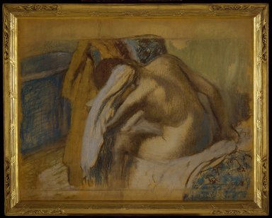 Edgar Degas (French, 1834-1917). Woman Drying Her Hair (Femme s'essuyant les cheveux), ca. 1889. Pastel and graphite on brown wove paper mounted on board, 33 1/8 x 41 1/2 in. (84.1 x 105.4 cm). Brooklyn Museum, Museum Collection Fund, 21.113