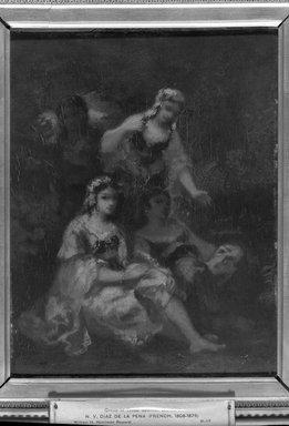 Narcisse-Virgile Diaz de la Peña (French, 1807-1876). Four Spanish Maidens, 1844-1860. Oil on panel, 10 5/8 x 8 1/2 in. (27.0 x 21.6 cm). Brooklyn Museum, Bequest of William H. Herriman, 21.117