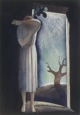 Rockwell Kent (American, 1882-1971). Lone Woman. Watercolor, 9 7/8 x 6 15/16 in. (25.1 x 17.6 cm). Brooklyn Museum, John B. Woodward Memorial Fund, 21.131