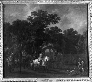 Attributed to Abraham Pietersz. van Calraet (Dutch, 1642-1722). A Riding School, or Breaking in Horses. Oil on panel, 16 9/16 x 19 7/16 in. (42.1 x 49.4 cm). Brooklyn Museum, Bequest of William H. Herriman, 21.135