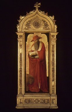 Donato de' Bardi (Italian,  Lombard-Ligurian School, active 1426-1450/51). Saint Jerome, part of an altarpiece, ca. 1445-1450. Tempera and and tooled gold on panel, 47 1/2 x 18 1/2 in.  (120.7 x 47 cm). Brooklyn Museum, Bequest of A. Augustus Healy, 21.138