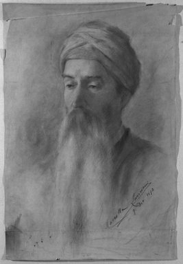 Lancini. Head of a Man. Pastel, 21 5/8 x 14 1/2 in.  (54.9 x 36.8 cm). Brooklyn Museum, Bequest of William H. Herriman, 21.20