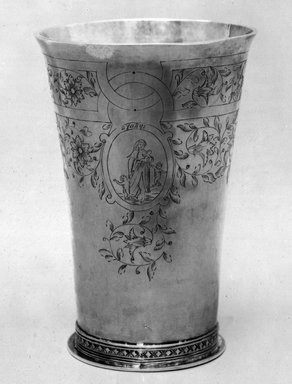 Henricus Boelen (1697-1755). Beaker, ca. 1730. Silver, Height: 6 3/4 in. (17.2 cm). Brooklyn Museum, Gift of Timothy Ingraham Hubbard, 21.236. Creative Commons-BY