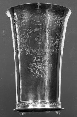 Henricus Boelen (1697-1755). Beaker, ca. 1730. Silver, Height: 6 3/4 in. (17.2 cm). Brooklyn Museum, Gift of Timothy Ingraham Hubbard, 21.236. Creative Commons-BY