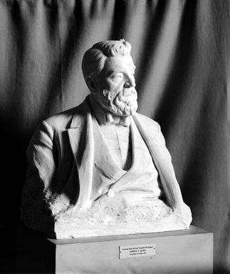 Edmond T. Quinn (American, 1868-1929). Bust of Professor Franklin W. Hooper, 1920. Marble, 32 x 26 x 16 in. (81.3 x 66 x 40.6 cm). Brooklyn Museum, Purchased by subscription, 21.243. Creative Commons-BY
