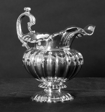 American. Creamer, 19th Century. Silver, 6 1/2 x 7 1/16 x 3 1/8 in. (16.5 x 18 x 8 cm). Brooklyn Museum, Bequest of Samuel E. Haslett, 21.246.3. Creative Commons-BY