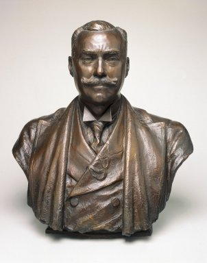 Victor David Brenner (American, 1871-1924). Bust of Samuel P. Avery, Jr. 1847-1920. Bronze, 22 1/2 x 20 3/8 x 13 1/2 in. (57.2 x 51.8 x 34.3 cm). Brooklyn Museum, Gift of Alice Lee Welcher, Emma Avery Welcher and Amy Ogden Welcher, 21.398. Creative Commons-BY