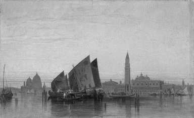 Italian. View of Venice. Oil on paperboard, 8 3/4 x 14 1/8in. (22.2 x 35.9cm). Brooklyn Museum, Bequest of William H. Herriman, 21.453