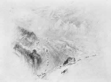 Unknown. Hikers in Snow-Covered Mountains. Watercolor Brooklyn Museum, Bequest of William H. Herriman, 21.491.2