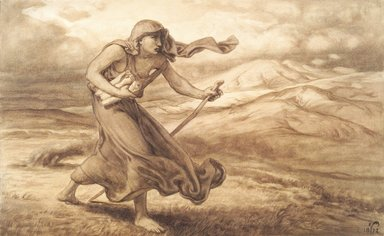 Elihu Vedder (American, 1836-1923). The Cumaean Sibyl. Watercolor on paper Brooklyn Museum, Bequest of William H. Herriman, 21.491.3