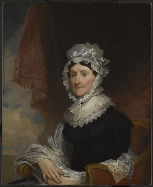 Gilbert Stuart (American, 1755-1828). Mrs. Robert Nicholls (Henrietta Overing) Auchmuty, 1816. Oil on canvas, 34 1/8 x 28 1/16 in. (86.6 x 71.2 cm). Brooklyn Museum, Gift of Herbert L. Pratt, 21.55