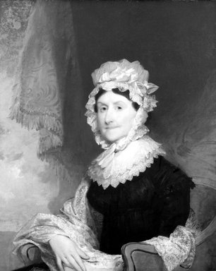 Gilbert Stuart (American, 1755-1828). Mrs. Robert Nicholls (Henrietta Overing) Auchmuty, 1816. Oil on canvas, 34 1/8 x 28 1/16 in. (86.6 x 71.2 cm). Brooklyn Museum, Gift of Herbert L. Pratt, 21.55