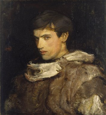 Abbott H. Thayer (American, 1849-1921). William Michael Spartali Stillman, ca. 1905-1915. Oil on canvas, 26 15/16 x 24 9/16 in. (68.5 x 62.4 cm). Brooklyn Museum, Museum Collection Fund, 21.58